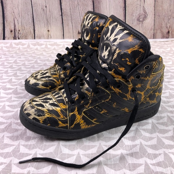 Jeremy Scott Leopard Print Adidas Hi Tops
